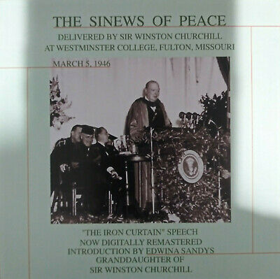 The Sinews of Peace - Delivered by Sir Winston Churchill (CD) LIKE NEW