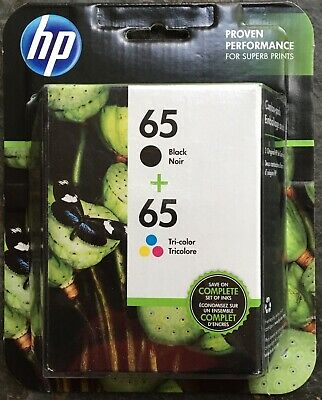 Genuine HP 65 Black / 65 Tri-color Ink Cartridges Combo - Expire 12/2019 NEW