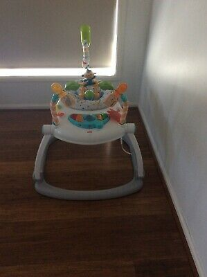 Fisher-price Spacesaver Jumperoo Colourful Carnival Lights Sound Music Bouncer