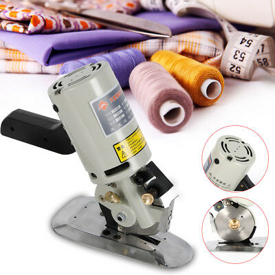 Rotary Blade Electric Fabric Cutter Round Knife Cloth Cutting Machine 200W USA