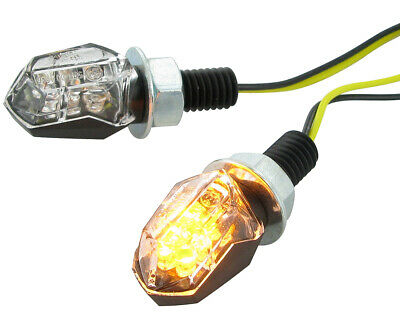 Blinker STR8 LED Mini II schwarz, transparent