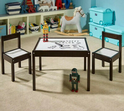 Love N Care Kids Table & Chairs Espresso