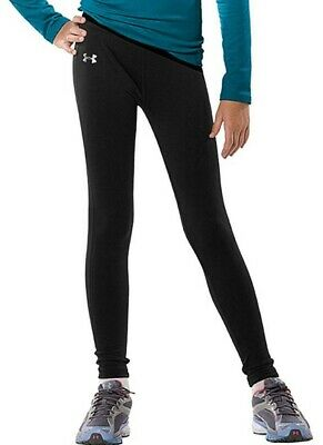 Under Armour Girls Coldgear Legging Sports Training Black large Fitted