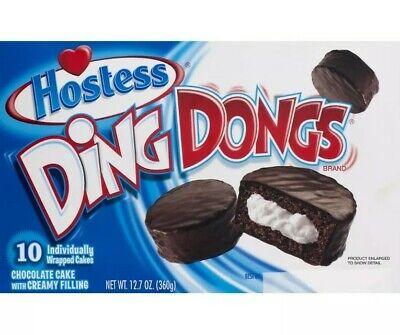 Hostess Ding Dongs Chocolate Iced Snack Cakes 10 Pack