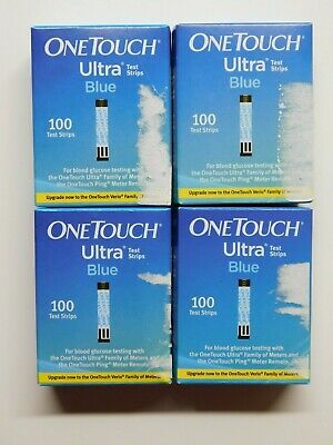 One Touch Ultra Blue Glucose Testing Strips Lot of (400) NIB 12/31/2020 4/2021