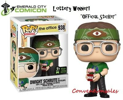 *OFFICIAL* ECCC 2020 FUNKO POP! THE OFFICE - DWIGHT SCHRUTE as RECYCLOPS FIGURE