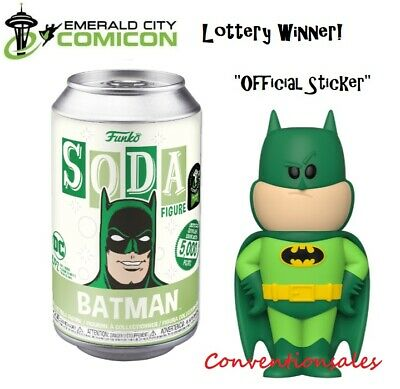 *Official* Eccc 2020 Funko Soda: Dc - Green Batman Figure Limited Edition