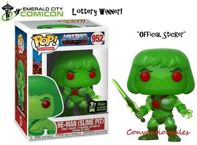 *Official* Eccc 2020 Funko Pop! Masters Of The Universe He-Man (Slime Pit) Motu