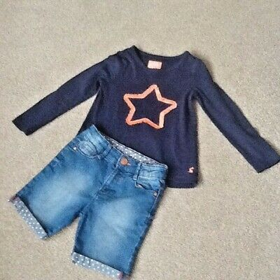 Girls Denim Co shorts age 5-6 years teamed up with a JOULES top age 5 years