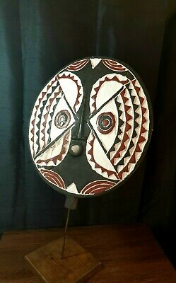 Mask African Carved Wood Tribal Wall Hand Vintage Art Wooden BIG Sun mask1047