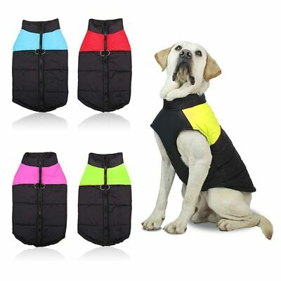 Winter Dog Clothes Small Large Big Dogs Waterproof Pet Coats Vest Jacket