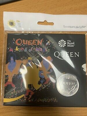Queen £5 Royal Mint Coin Official BU Five Pound A KIND OF MAGIC -PRESENTATION PK