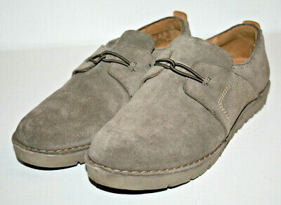 Women's Casual Low Shoes Clarks Suede Leather Light Grey Size 6 UK 39 EU FAST