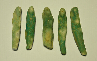lOT of 5 Ancient faience Turquoise Ushabty Egypt 2nd Millenum BC