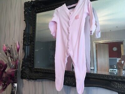 Baby Girls Tu Pink Sleepsuit Age 3-6 Months