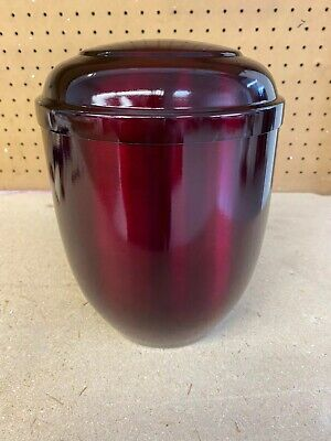 Burgundy Metallic Adult Cremation Urn for human ashes