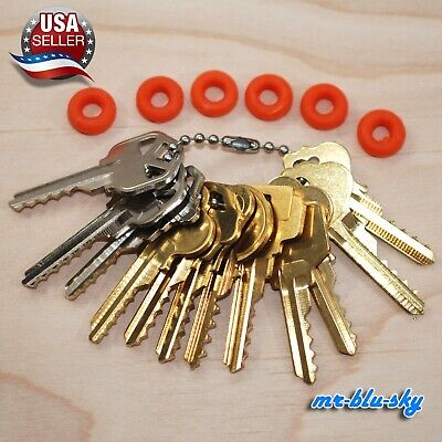 Cut Key Set of 12 (Residential) with 6 Rubber Rings, Lockout, Locksmith