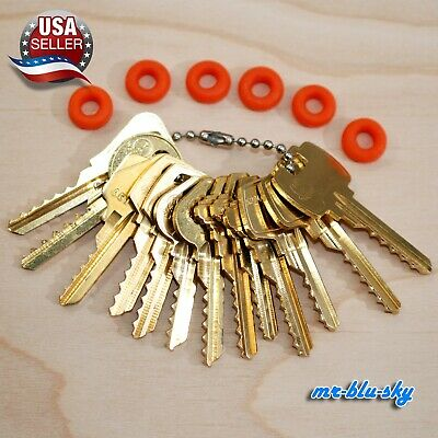 Cut Key Set of 13 (Commercial) with 6 Rubber Rings, Lockout, Locksmith