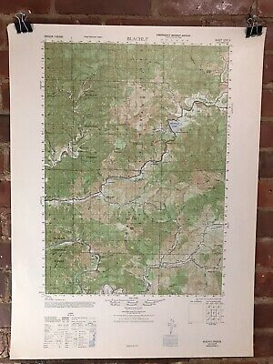 Vintage Blachly Oregon Map 1947 Original Large Topographic USGS Army Map
