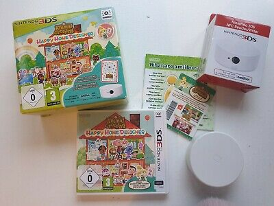 Animal Crossing Happy Home Designer 3DS Game with NFC Reader/writer included