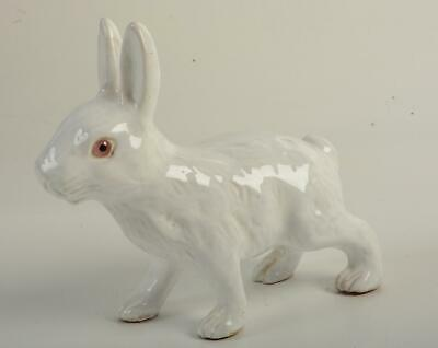 RARE Bavent French Terracotta Walking Rabbit Bunny Glass Eye Figurine Statue