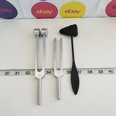Medical Instruments Tuning Fork 512 C and 128 C and Reflex Hammer
