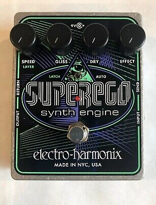 Electro-Harmonix EHX Superego Polyphonic Synth Engine Guitar Effect Pedal W PSU