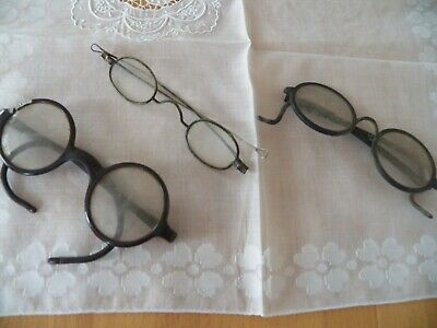 3 Pairs Antique Eye Glasses