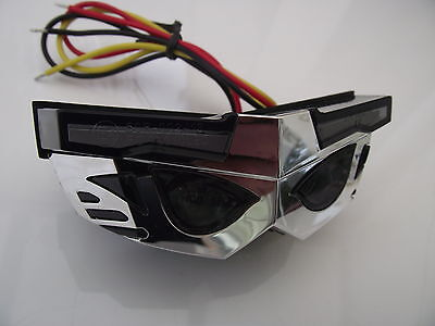 LED rear stop tail light transformer smoked lens chrome case stop and tail light