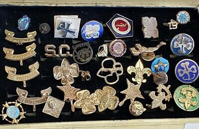 176pc Piece Vintage and Modern Mixed Tack/Lapel Pin Lot Harley Scouts Antique