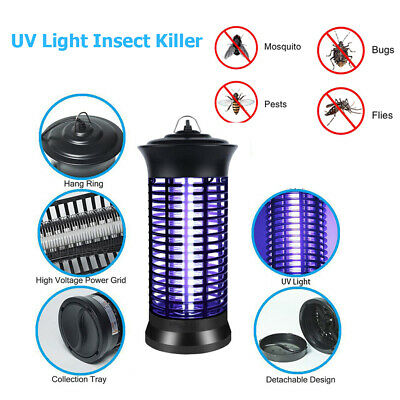 Electric UV Light Insect Bug Zapper Fly Mosquito Killer Lamp Pest Trap Low Noise