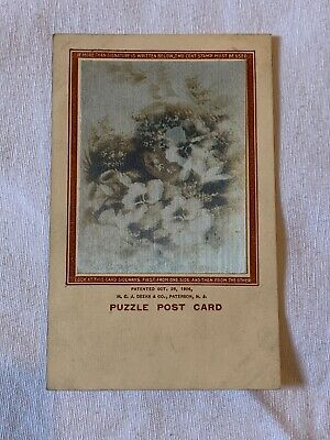 Puzzle Postcard, H.C.J. Deeks & Co 1906, Early Auto Scenes, Lenticular