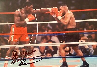 Frank Bruno v Tyson HAND SIGNED 12x8 Boxing Champion Photograph *In Person* COA