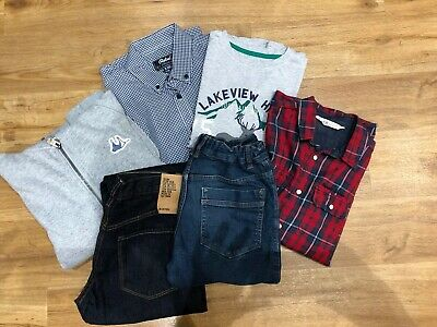 Bundle new/nearly new clothes boys 12-13 years H&M Mantaray shirt jeans hoodie