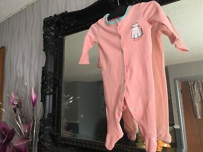 Baby Girls Pep&Co Orange Sleepsuit Age 0-3 Months