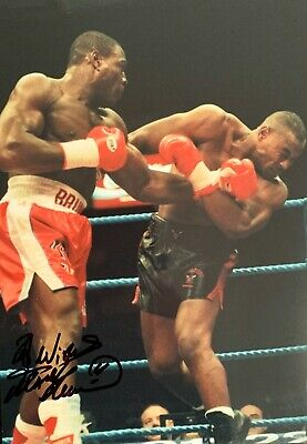 Frank Bruno HAND SIGNED 12x8 Boxing Champion Photograph *In Person* COA