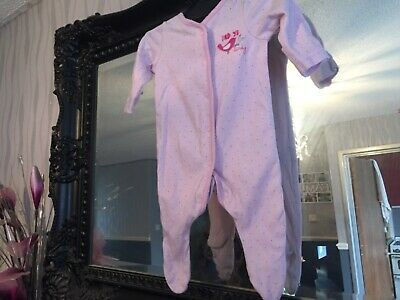 Baby Girls Mothercare Pink Sleepsuit Age Upto 1 Month