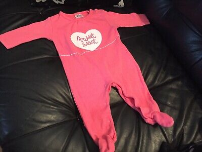 Baby Girls F&F Pink Sleepsuit Age 0-3 Months