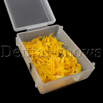 400 pcs Dental disposable Plastic Poly-Wedges with Holes Round Stern Medium size