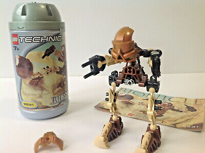 Lego Technic Bionicles Set 8531. Pohatu Toa Mata, With Instructions And Canister