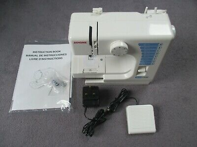 Janome 140M sewing machine. Small & lightweight. With instructions, bobbins, etc