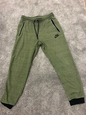 Nike Mens Khaki Jogger Tracksuit Bottoms Large