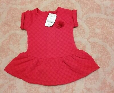 Next baby girl long sleeved red dress age 6-9 months