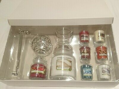 Yankee Candle Gift Set 8 Candles + Accessories winter holiday suitcase BNIB