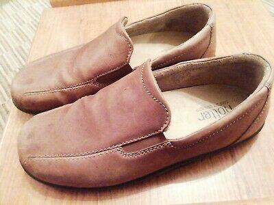 Hotter ' Relax' Comfort Concept Mens Loathers Tan Brown Leather Size 12 VGC