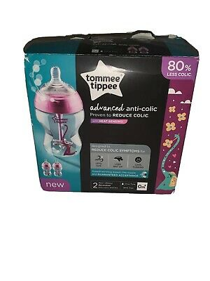 Tommee Tippee Advanced 2 Piece Anti-Colic Bottles for Girls, 9 Ounce