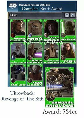 Topps Star Wars Card Trader - Throwback REVENGE OF THE SITH Set + Award (Green)