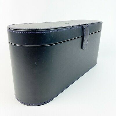 Black Leather Travel Case Cover Storage Box for Dyson Supersonic Hair Dryer