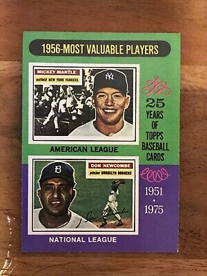 1975 Topps Mickey Mantle / Don Newcombe #194 Set Break Mint