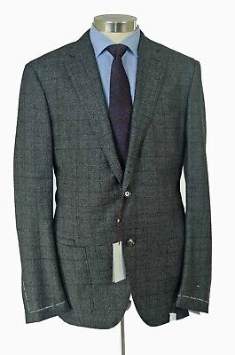 Luciano Barbera NWT gray medium weight wool two piece suit sz 44 US